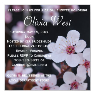 Cherry Blossoms Bridal Shower Party Invitation