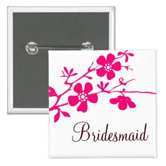 Cherry Blossoms Bridesmaid Button