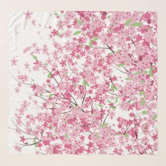 Cherry Blossoms Chifon Scarf
