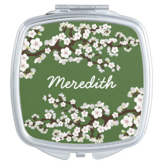 Cherry Blossoms Compact Mirror Bridal Party Gift Compact Mirrors
