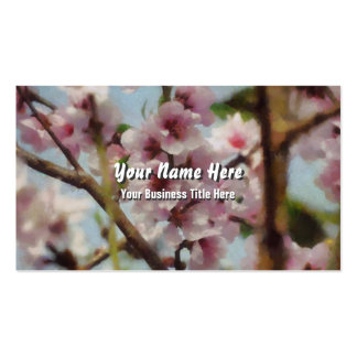 Cherry Blossoms Digital Painting Business Card Templates