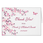 Cherry Blossoms Floral Wedding Thank You Card