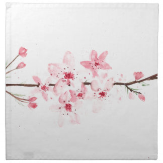 Cherry blossoms flowers napkin