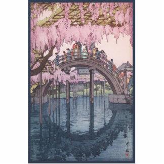 Cherry Blossoms in Bloom Over Kameido Bridge Photo Sculptures