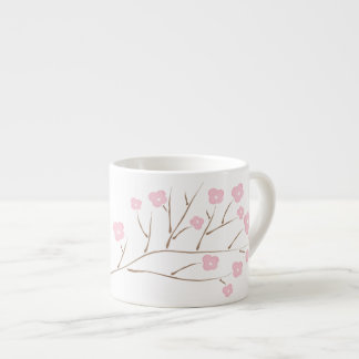 Cherry Blossoms in Pink Espresso Cup