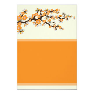 "Cherry Blossoms Info Card (3.5"" x 5"") - orange 9 Cm X 13 Cm Invitation Card"