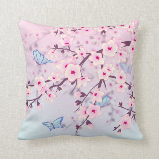 Cherry Blossoms Landscape Cushion