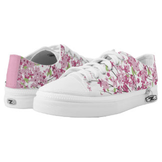 Cherry Blossoms Low-top Sneakers
