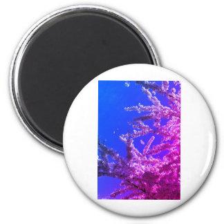 cherry blossoms 6 cm round magnet