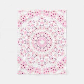Cherry Blossoms Mandala Pattern Fleece Blanket