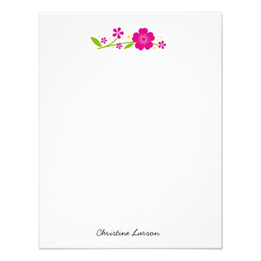 Cherry Blossoms Personal Stationery Invitations