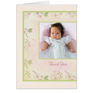 Cherry Blossoms Photo Thank You Card