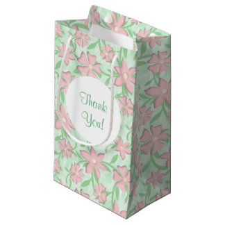 Cherry Blossoms Pink Sakura Bloom Spring Flowers Small Gift Bag