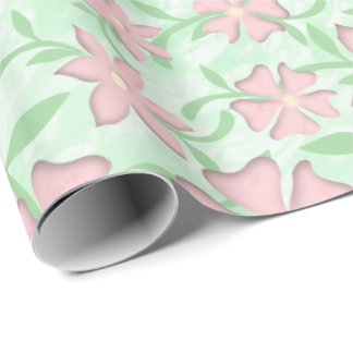Cherry Blossoms Pink Sakura Bloom Spring Flowers Wrapping Paper