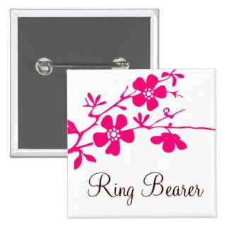 Cherry Blossoms Ring Bearer Button