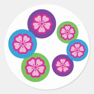 Cherry blossoms round sticker