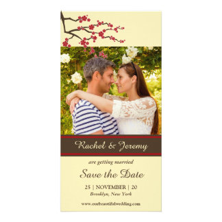 Cherry Blossoms Sakura Flowers Tree Save The Date Picture Card