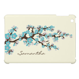 Cherry Blossoms Sakura iPad Mini Case (aqua)