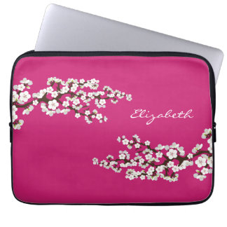 Cherry Blossoms Sakura Laptop Sleeve (fuschia)