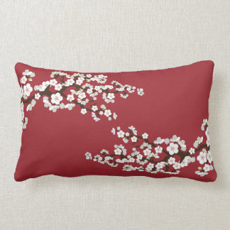 Cherry Blossoms Sakura Throw Pillow (red)