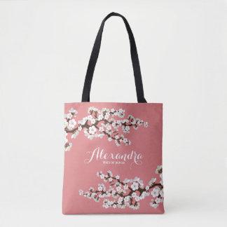 Cherry Blossoms Sakura Wedding Party Tote (rose)