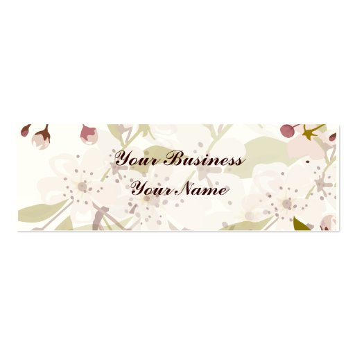Cherry Blossoms Skinny Indestructible Business Business Cards
