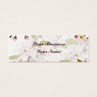 Cherry Blossoms Skinny Indestructible Business Mini Business Card