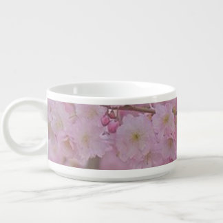 Cherry Blossoms,soft pink Small Soup Bowl With Handle