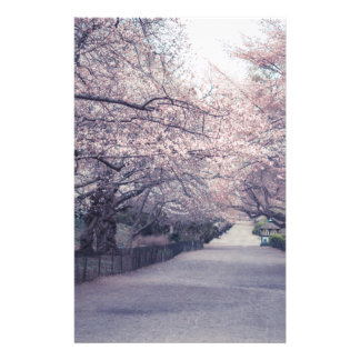 Cherry Blossoms Stationery Design