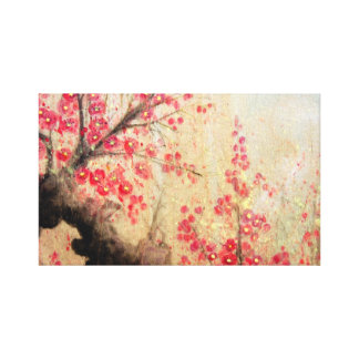 Cherry Blossoms Stretched Canvas Print