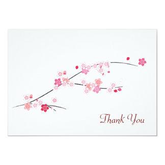 Cherry Blossoms Thank You Card 13 Cm X 18 Cm Invitation Card