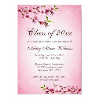 Cherry Blossoms Vintage Pink Graduation Card