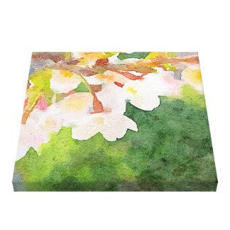 Cherry Blossoms Watercolor Sakura Flowers Spring Canvas Print