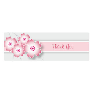Cherry Blossoms Wedding Favor Tag Business Card Template