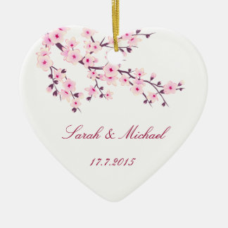 Cherry Blossoms Wedding  Favour Ornament