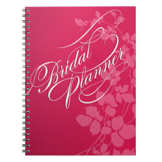 Cherry Blossoms Wedding Planner fuschia | pink Spiral Notebook