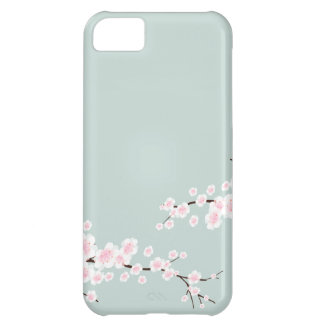 Cherry Blossoms with Mint Green Background iPhone 5C Case