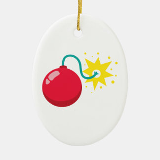 Cherry Bomb Firework Ceramic Ornament