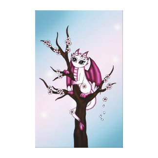 Cherry Bottom Dragon canvas Gallery Wrapped Canvas