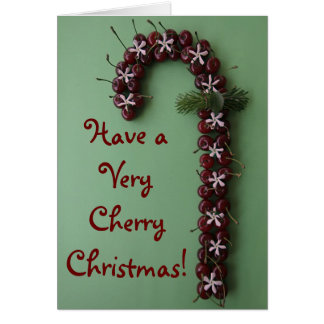 Cherry Christmas Greeting Card