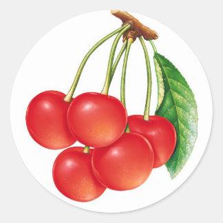 cherry classic round sticker