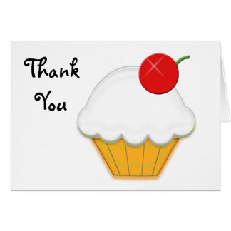Cherry Cupcake Art Greeting Card