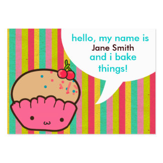 Cherry Cupcake for Bakers Pack Of Chubby Business Cards