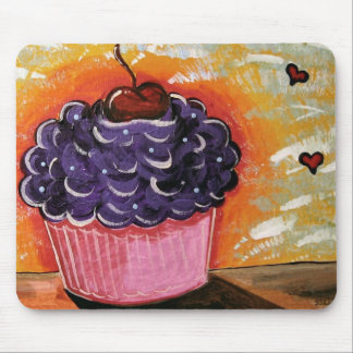 Cherry Cupcake Mouse Pad