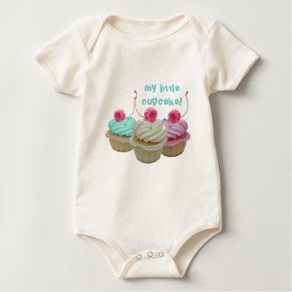 Cherry cupcakes baby bodysuits