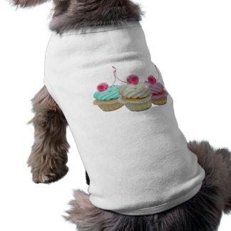 Cherry cupcakes sleeveless dog shirt