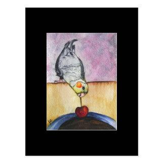 Cherry Dip (cockatiel) ACEO Art Trading Card