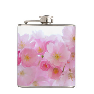 Cherry Flower Hip Flask