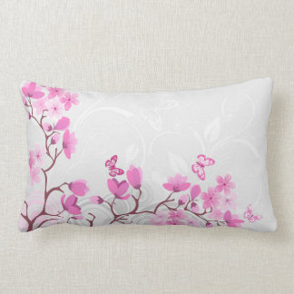 Cherry Flowers Lumbar Pillow