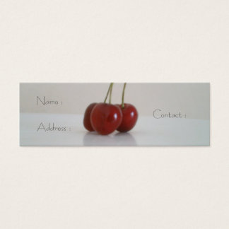 cherry glow mini business card